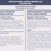 2019 Notice of Annual Meeting